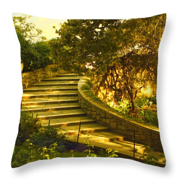 Stairway To Nirvana Throw Pillow by Madeline Ellis