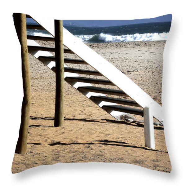 Stairway to summer  Throw Pillow by A Rey