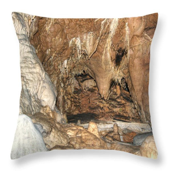 stalactites Throw Pillow by Michal Boubin