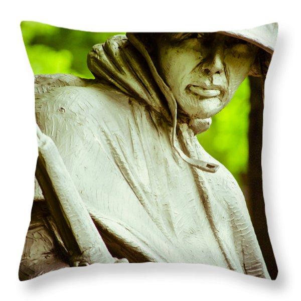 Stalwart Soldier Throw Pillow by Christi Kraft