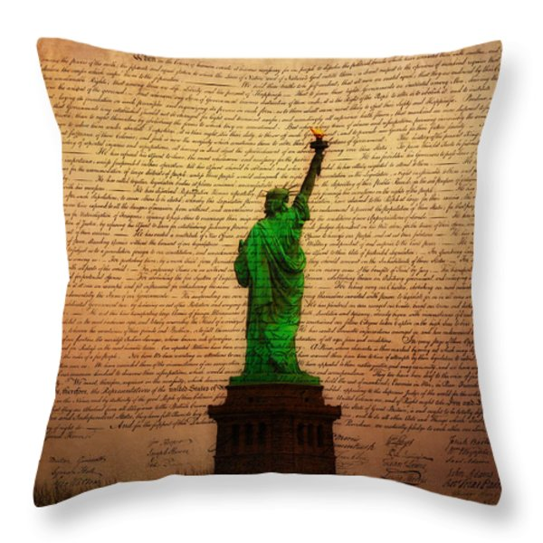 Stand Up for Freedom Throw Pillow by Bill Cannon