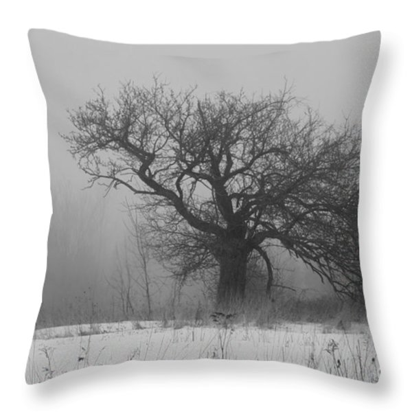 Standing Alone Throw Pillow by Alana Ranney