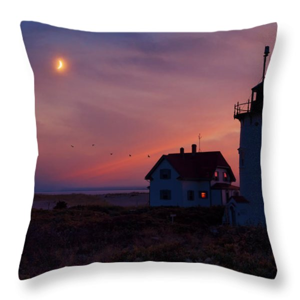 Standing Guard Throw Pillow by Bill  Wakeley
