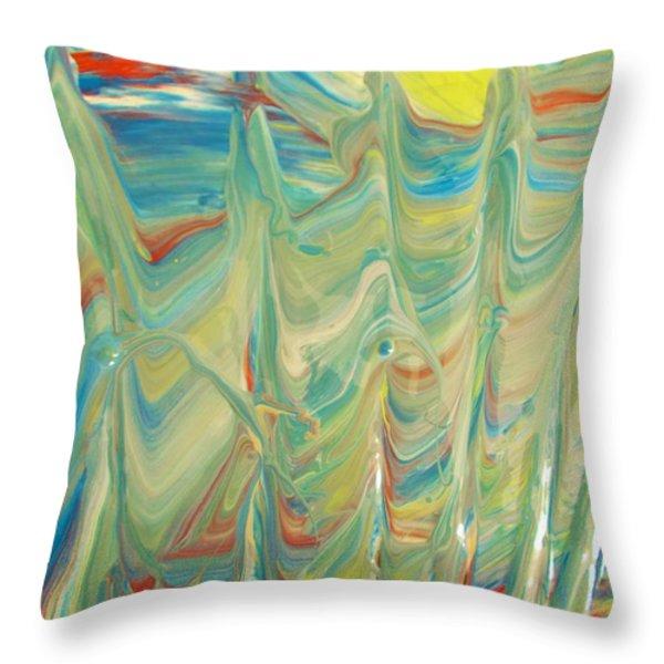Standing Tall Throw Pillow by Artist Ai