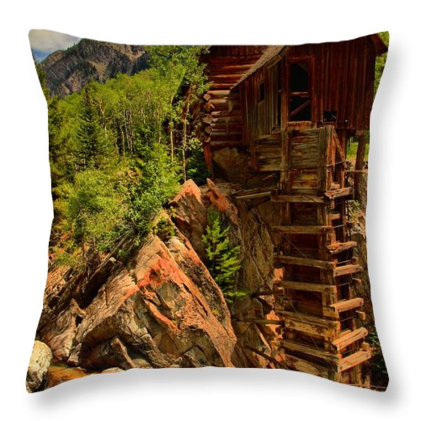 Standing Tall In Crystal Throw Pillow by Adam Jewell