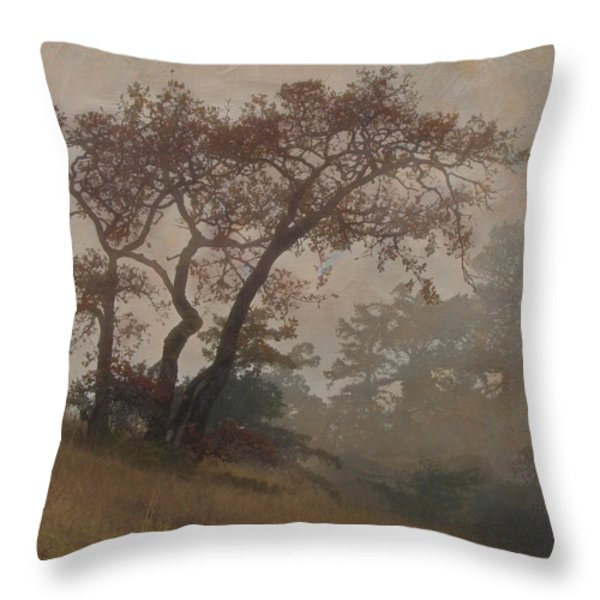 Standing Through The Storm Throw Pillow by Angie Vogel