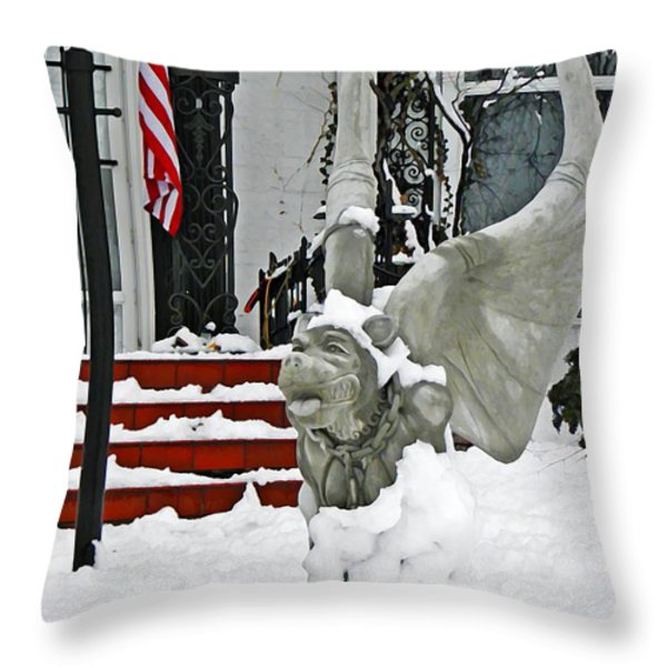Standing Watch  Throw Pillow by Chris Berry