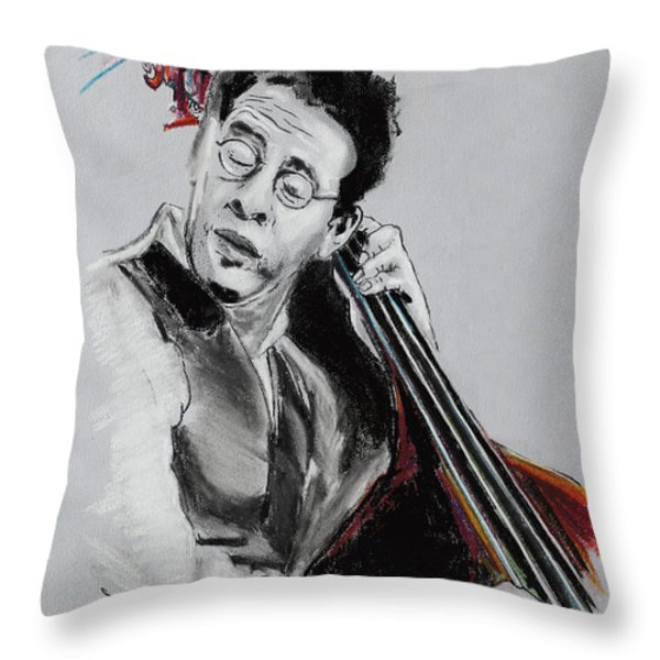 Stanley Clarke Throw Pillow by Melanie D