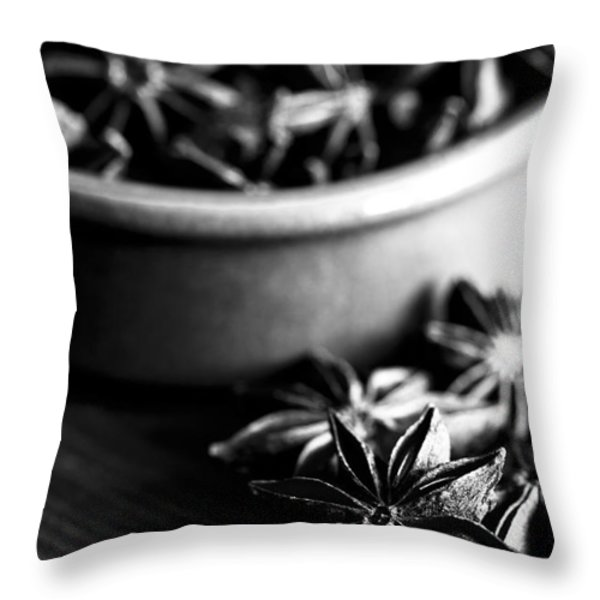 Star Anise Dish Throw Pillow by Anne Gilbert