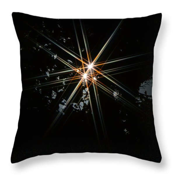 Star Bright Throw Pillow by Donna Blackhall