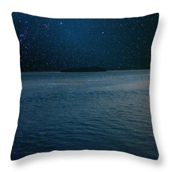 Star Island Throw Pillow by AR Annahita