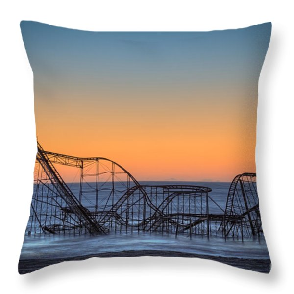 Star Jet Roller Coaster Ride  Throw Pillow by Michael Ver Sprill