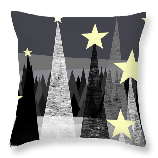 Star Light - Star Bright Throw Pillow by Val Arie