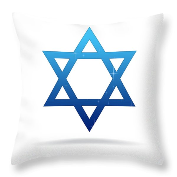 Star of David Throw Pillow by Aged Pixel
