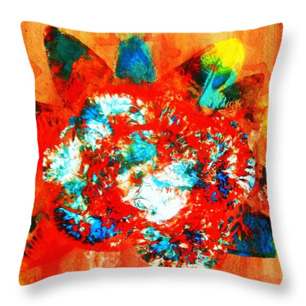 Starburst Nebula Throw Pillow by Roberto Prusso