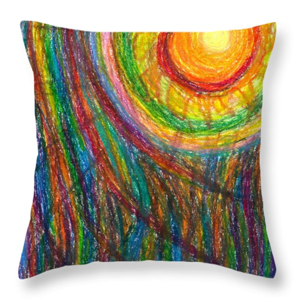 Starburst - The Nebular Dawning of a New Myth and a New Age Throw Pillow by Daina White