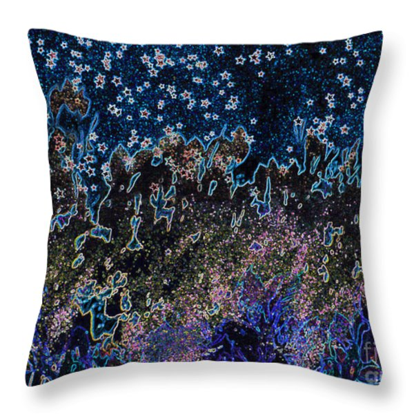 Stardust by jrr Throw Pillow by First Star Art