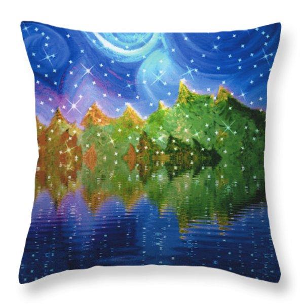 Starfall Throw Pillow by First Star Art