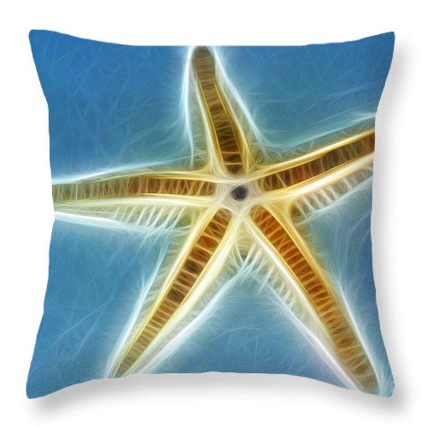 Starfish Art Throw Pillow by Kaye Menner
