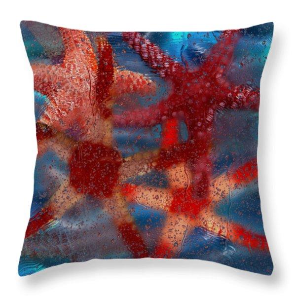 Starfish Throw Pillow by Jack Zulli