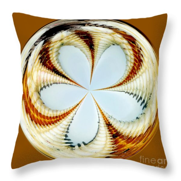 Starfish to Flower - Orb Throw Pillow by Kaye Menner