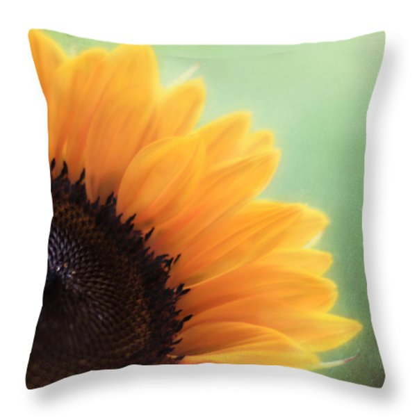 Staring Into The Sun Throw Pillow by Amy Tyler