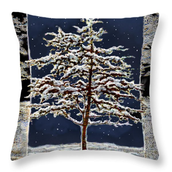 Starlight Throw Pillow by Ursula Freer