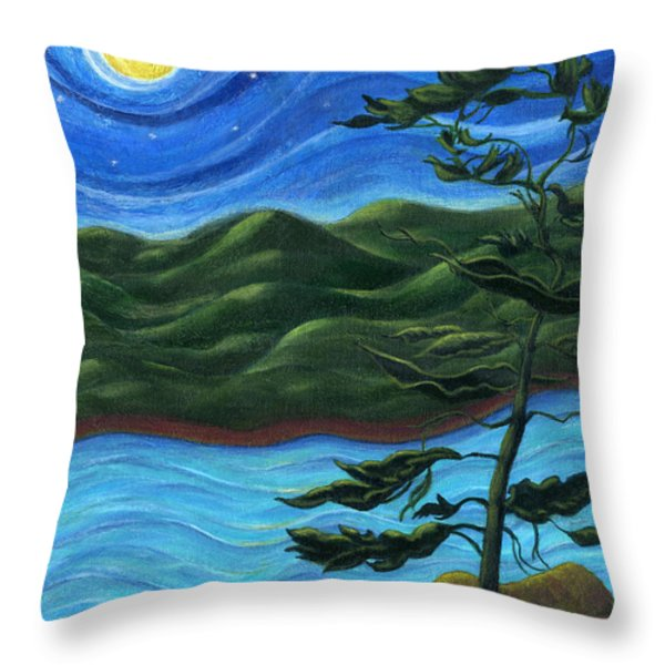 Starry Night at Algonquin Park Throw Pillow by Catherine Howard