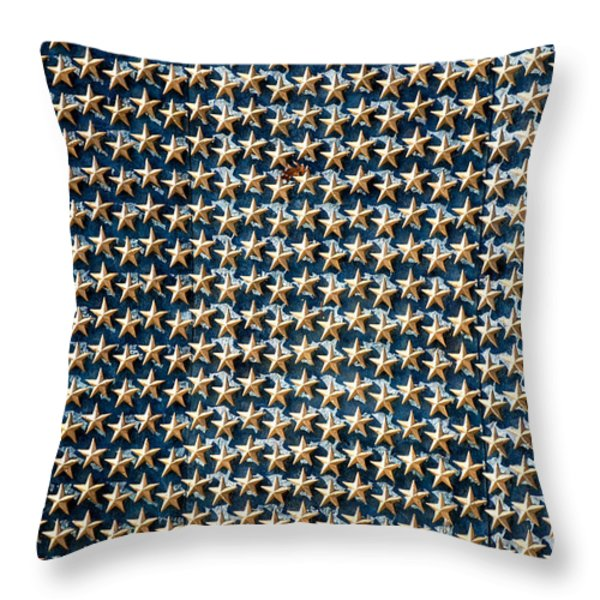 Stars Throw Pillow by Greg Fortier
