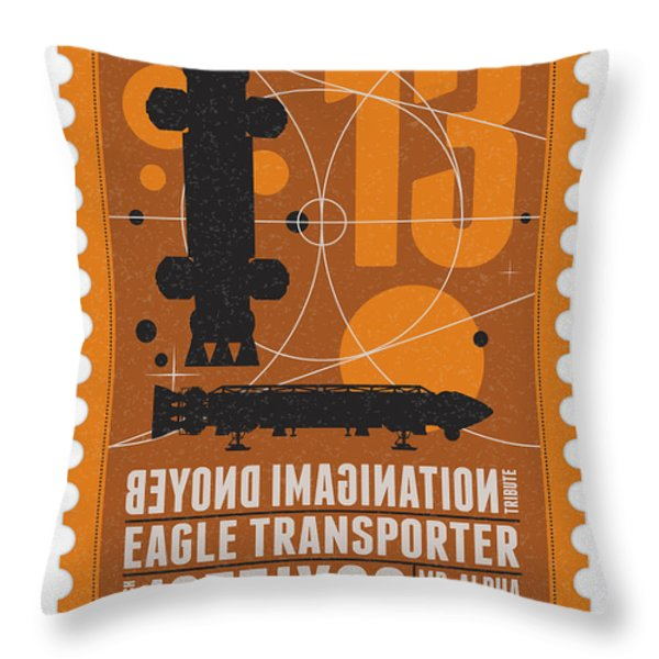 Starschips 13-poststamp - Space 1999 Throw Pillow by Chungkong Art