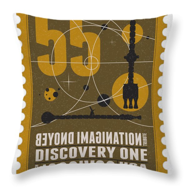 Starschips 55-poststamp -Discovery One Throw Pillow by Chungkong Art
