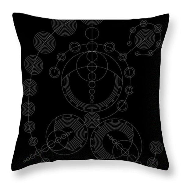 Starship Inverse Throw Pillow by DB Artist