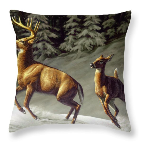 Startled - variation Throw Pillow by Crista Forest