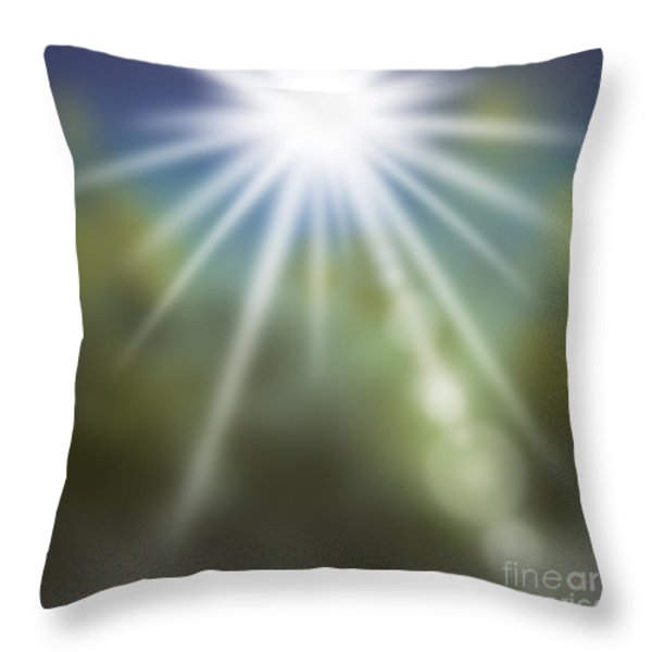 startosphere Throw Pillow by ATIKETTA SANGASAENG