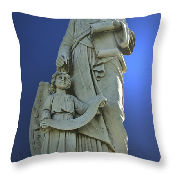 Statue 05 Throw Pillow by Thomas Woolworth