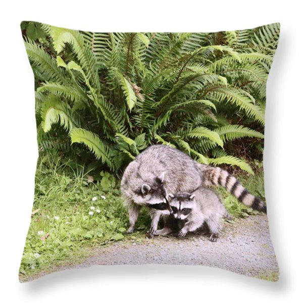 Stay Close And Run Fast  Throw Pillow by Kym Backland
