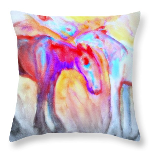 staying alive Throw Pillow by Hilde Widerberg
