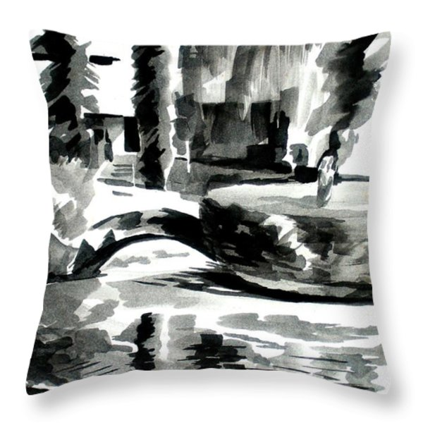 Ste Marie Du Lac Pond And Parish Throw Pillow by Kip DeVore