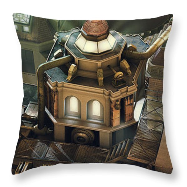 Steam City Throw Pillow by Marc Orphanos