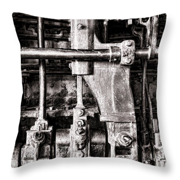 Steam Engine Throw Pillow by Olivier Le Queinec