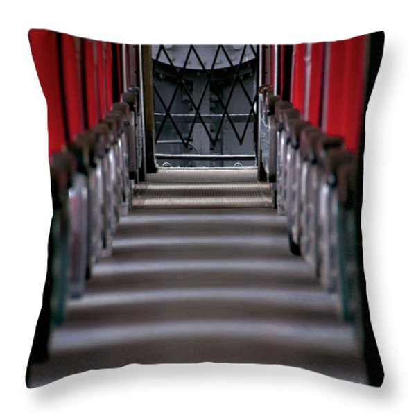 Steam Engine Pushing Throw Pillow by Trever Miller