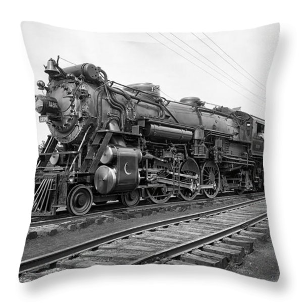STEAM LOCOMOTIVE CRESCENT LIMITED c. 1927 Throw Pillow by Daniel Hagerman