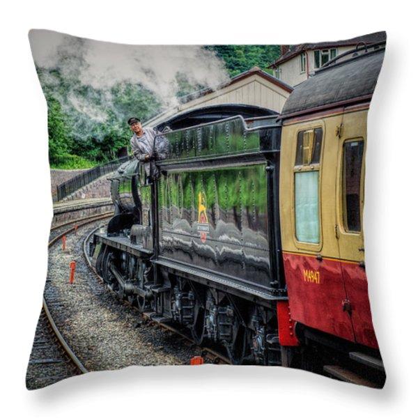 Steam Train 3802 Throw Pillow by Adrian Evans