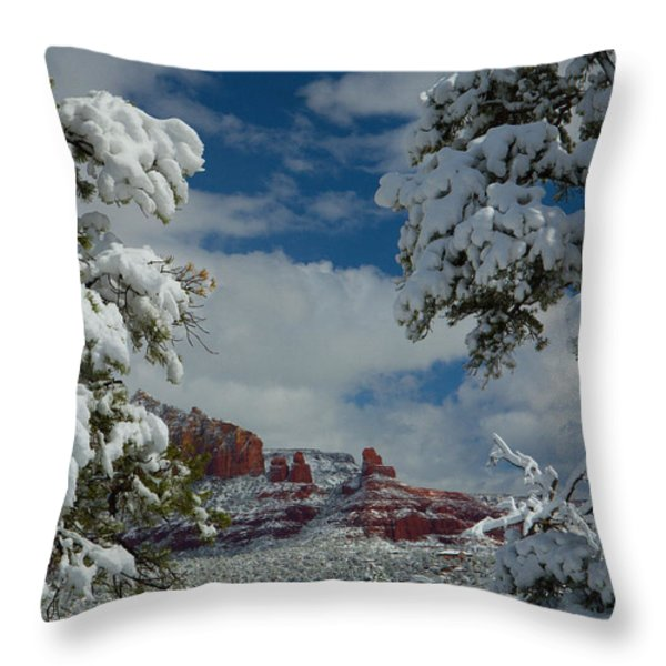 Steamboat Beckons Throw Pillow by Tom Kelly