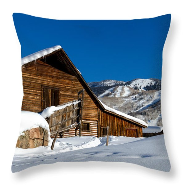 Steamboat Springs Colorado Throw Pillow by Teri Virbickis