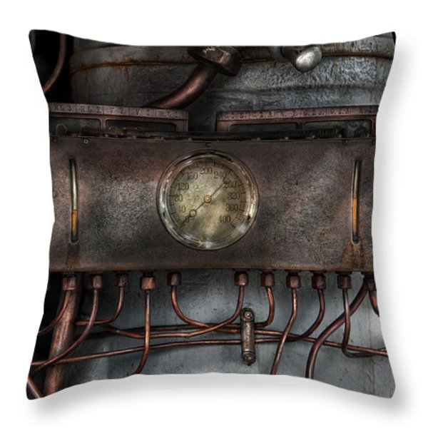 Steampunk - Connections   Throw Pillow by Mike Savad