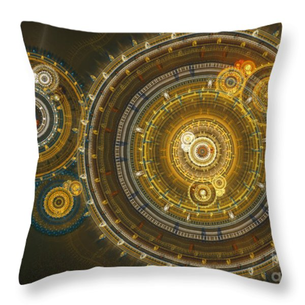 Steampunk dream Throw Pillow by Martin Capek