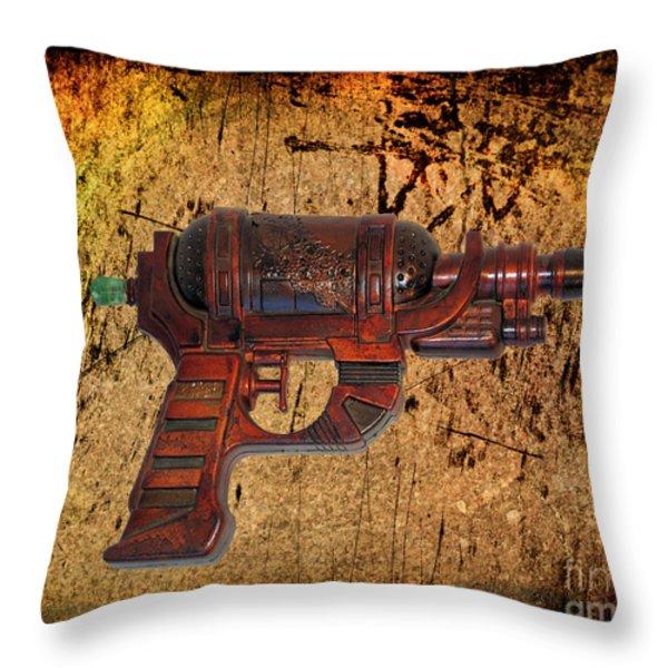 Steampunk - Gun - Ray Gun Throw Pillow by Paul Ward