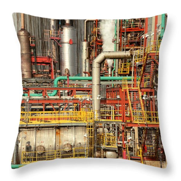 Steampunk - Industrial Illusion Throw Pillow by Mike Savad