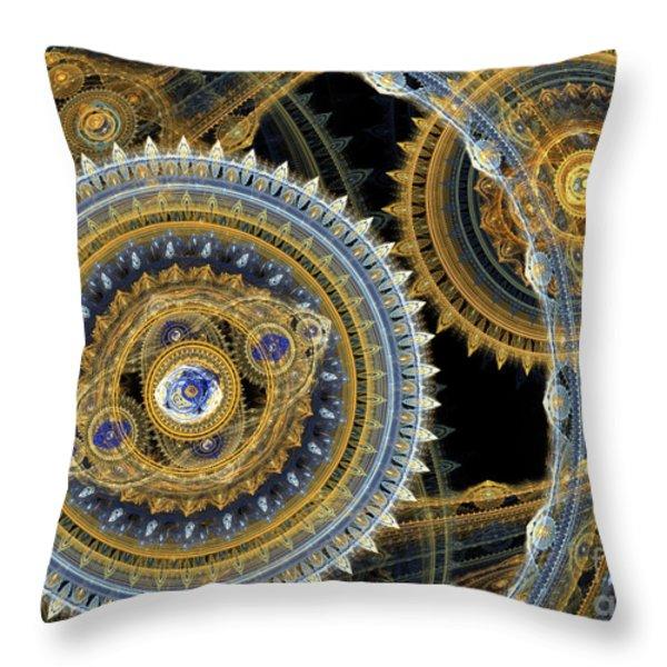 Steampunk Machine Throw Pillow by Martin Capek